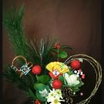 お正月のフラワーアレンジメント 花材とそのメッセージ