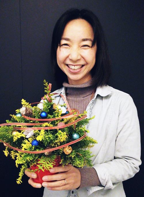 大人の習い事-クリスマスツリー作り