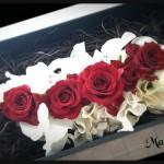 バレンタインや記念日に贈りませんか?チョコに添える簡単花ギフト