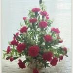 フラワーデザイン・生花で基本の形②トライアングル(トライアンギュラー)アレンジメントで基礎から