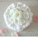 フェイクスイーツレッスン・真っ白なケーキはウェディングなどのお祝いに・・・