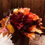ハロウィンのテーブルアレンジメント